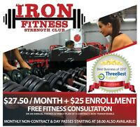Join Iron Fitness - the #BESTGYMINMARKHAM today!!
