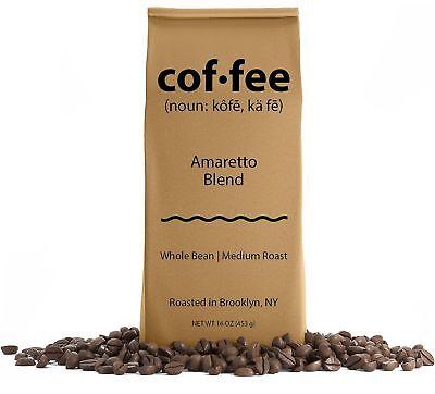 Amaretto Blend Whole Bean Coffee, Medium Roast, 1-Pound Bag