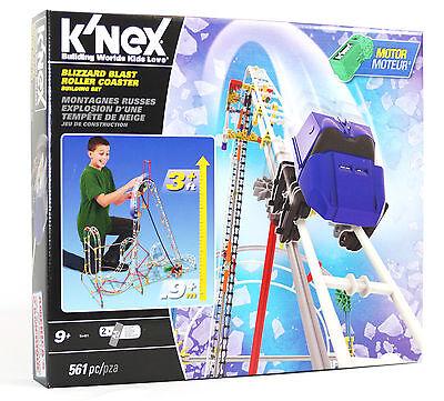 Knex Achterbahn, Knex Blizzard Blast Roller Coaster, Knex Konstrutionskästen