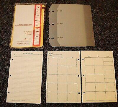 Classic Desk Planner Accessory 3-hole Alphabet Tabs Pages Protectors Lot 28