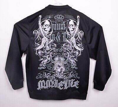 MMA Elite Men's Sz Large Reaper Skull Black Full Zip Track Jacket Skull Track Jacket