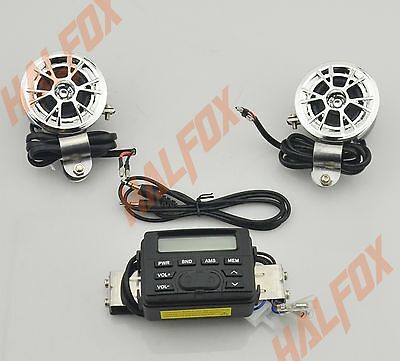 FM Radio MP3 Stereo Handlebar Audio System 2 Speaker for Yamaha Motorcycle Bike