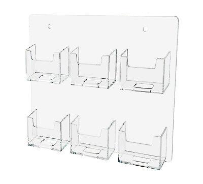 Wall Mountable Vertical 6 Pocket Business Card Holder Lot of 12