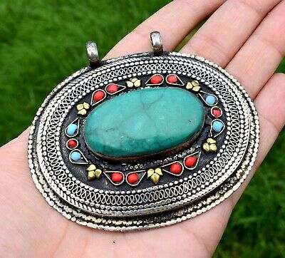 Afghan Kuchi Tribal Hanmade Green necklace from Pakistan