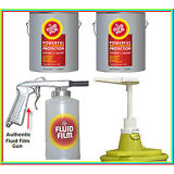 Fluid Film 2 gallon Undercoat kit with pump lid and Spray gun with bottle