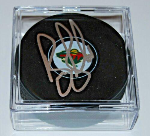 BRUCE BOUDREAU signed (MINNESOTA WILD) NHL Souvenir hockey puck W/COA
