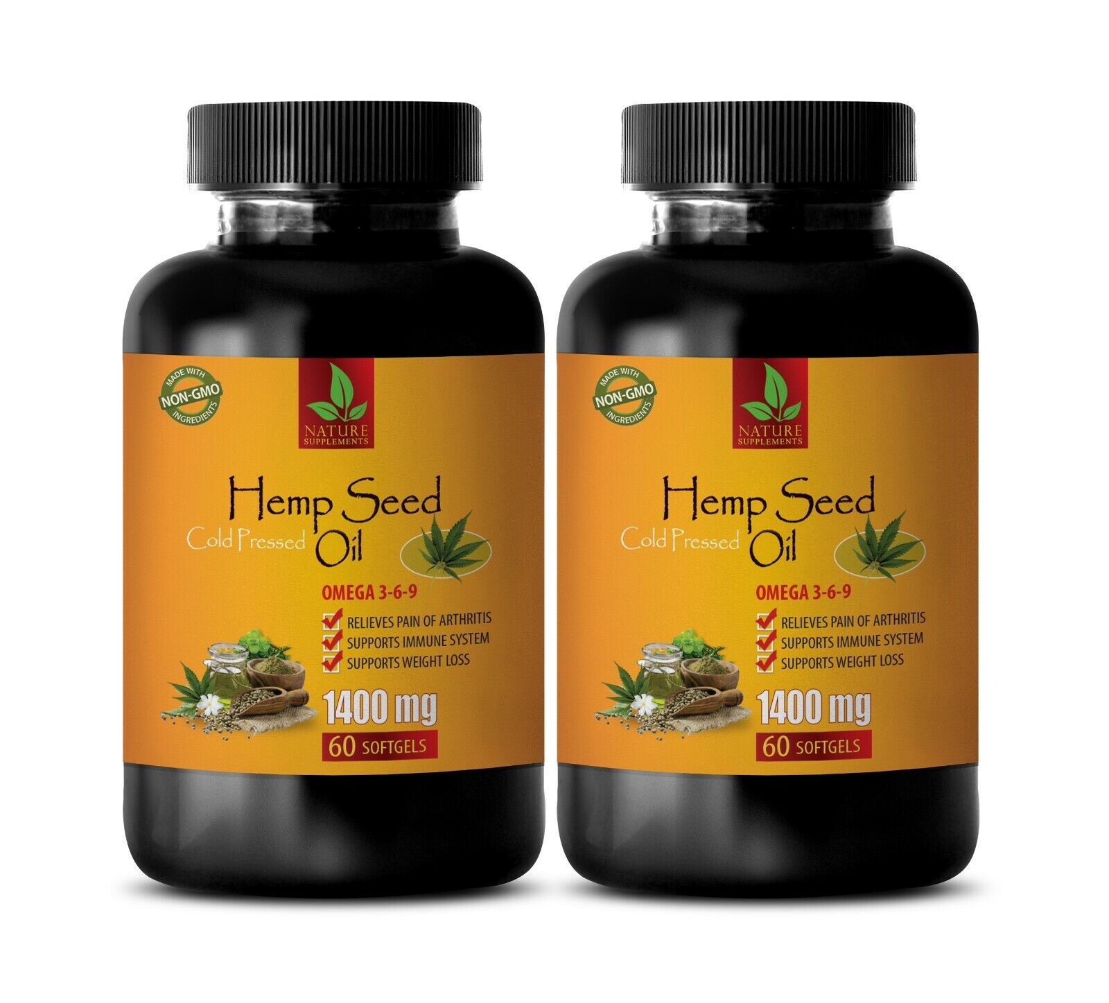 pain relief supplements - HEMP SEED OIL PILLS - hemp oil for anxiety capsules 2B