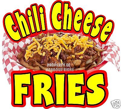 Chili Cheese Fries Decal 14 Concession Restaurant Food Truck Cart Vinyl Sticker