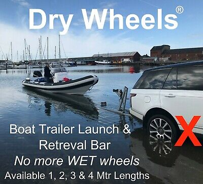 2 Mtr 'Dry Wheels' Boat Trailer Launching & Retreival Bar Boat RIB Fishing Boat