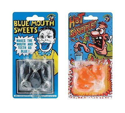 Packung 3 Blau Mund oder Hot Süßigkeiten Kostüm Party Witz Revenge - 3 Artikel Kostüm