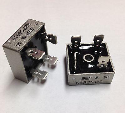 Bridge Rectifier 1ph 50a 1000v 50 Amp Metal Case - 1000 Volt 50a Diode 2pcs