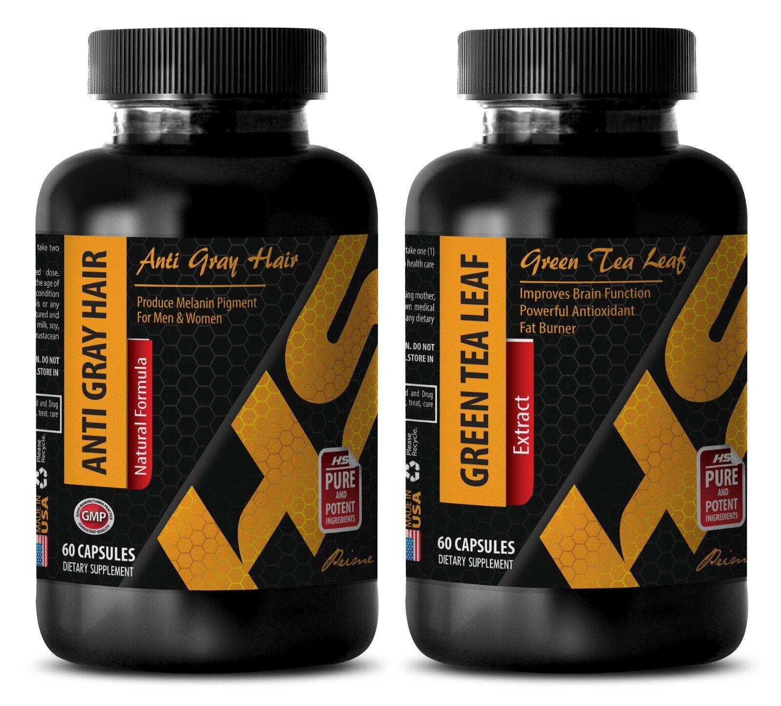 Fat burner pills men - ANTI GRAY HAIR - GREEN TEA COMBO - green tea weight loss