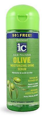 Fantasia Hair Polisher Olive Moisturizing Shine Serum, 6 oz
