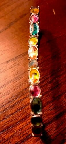 Vintage Multi Colored Costume Jewelry Bracelet, Unbranded - $6.99