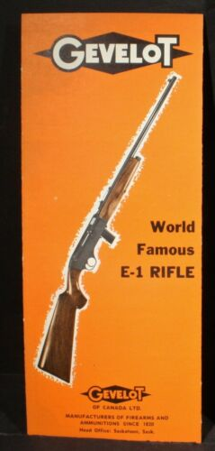 Gevelot Gevarm E-1  22 Semi-Automatic Carbine Rifle 4 Page Fold-out Brochure