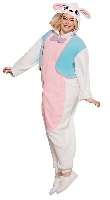 Easter Costumes (Colorful Bunny Jumpsuit Adult Costume -)