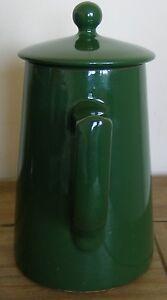 LOVATT LANGLEY WARE COFFEE POT - GREEN..WEADLES GLAZE