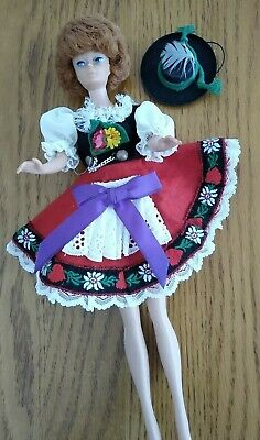 Vintage Original German MMM Dirndl Dress Hat PRYM Snaps Lg Bild Lilli Barbie Sz