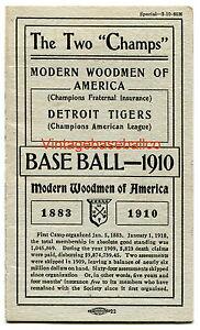 RARE-1910-Detroit-Tigers-baseball-schedule-Modern-Woodmen-Ty-Cobb-Jennings