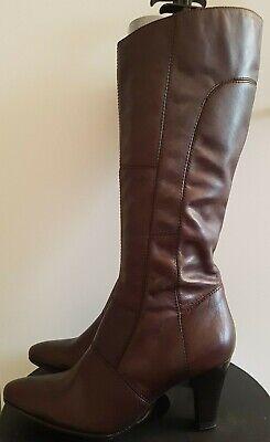 3 Cm Größer Stiefel (Janet D. Damen Stiefel braun Absatz ca. 7,3 cm größe 38  OM ECHT LEDER NEU)