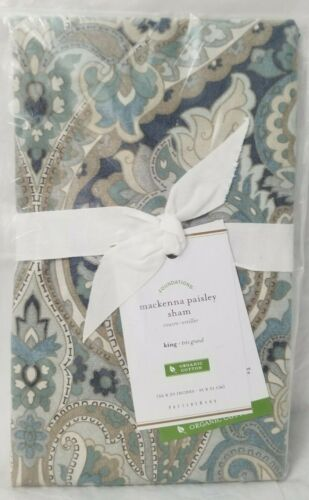 "Pottery Barn Mackenna Paisley Pillow Shams King 36"" x 20""   - Free Ship"