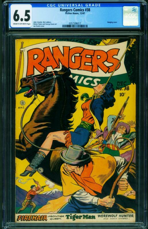 Rangers Comics #38 CGC 6.5 1947- hanging cover - Fiction House 0357306017