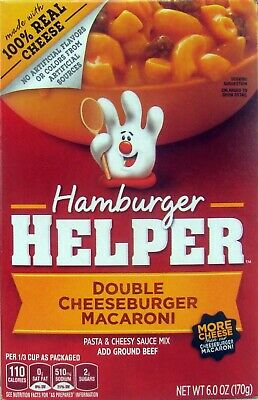 Betty Crocker Hamburger Helper Double Cheeseburger Macaroni Pack of 2 6 oz (Betty Crocker Hamburger Helper)