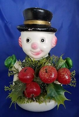 Vintage Hong Kong frosty the snowman plastic blowmold decoration centerpiece