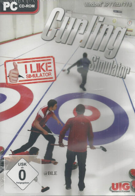 PC CD-ROM + Curling Simulator + Sport + Eis + Eissport +  + Win 8