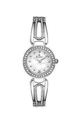 Bulova Women's 96L126 Quartz Crystal Accents Silver-Tone Bangle 32mm Watch