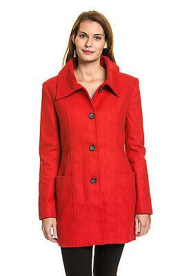 CALVIN KLEIN Damen Trenchcoat Mantel Jacke Wolle klassisch ()