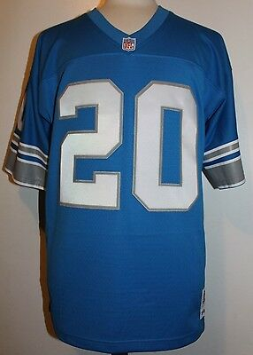 Barry Sanders #20 Detroit Lions Throwback Jersey Mitchell & Ness Jersey - Blue
