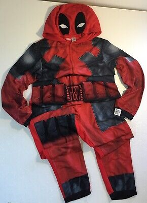 NEW Mens MARVEL DEADPOOL Costume Medium Adult Halloween Super Hero Suit Pajama