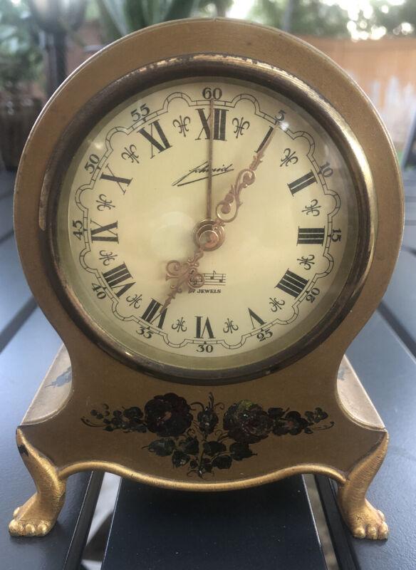 Schmid Gilt Musical Alarm Clock