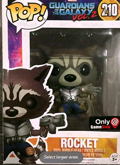Gamestop exclusive rocket raccoon pop vinyl