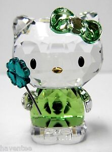 HELLO-KITTY-LUCKY-CHARM-CRYSTAL-HOLDING-FOUR-LEAF-CLOVER-2014-SWAROVSKI-5004741