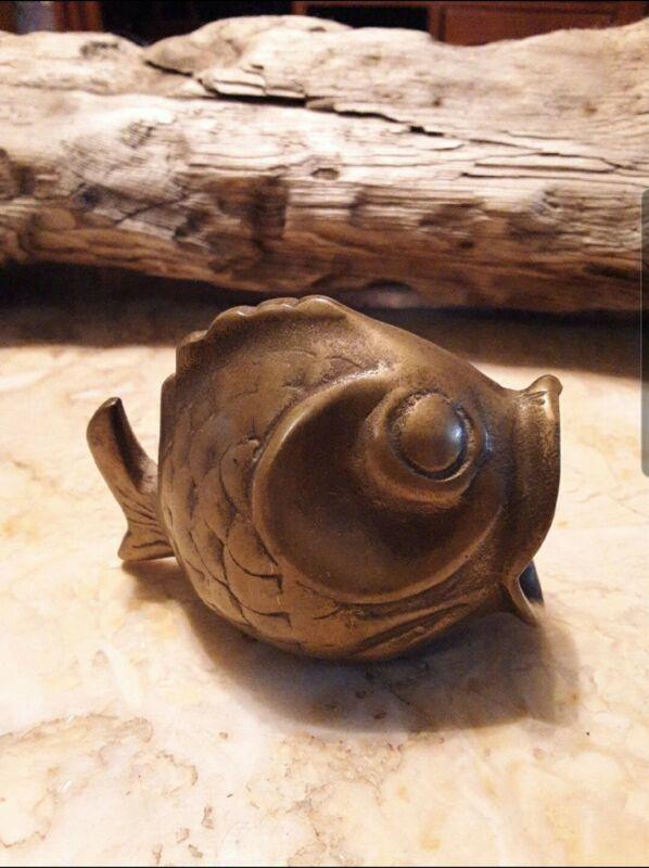 Small Bronze Big Mouth Coi Fish - Unique