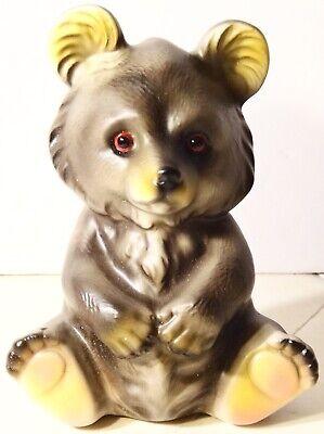 Vintage Ceramic Teddy Bear Coin Bank Japan - Bear Bank