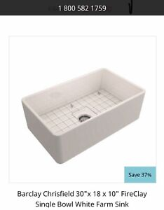 FireClay Farmhouse Sink Single Bowl Free Delivery