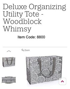 Thirtyone Deluxe Organizing Tote. NEW in package. Woodblock