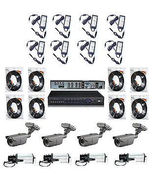 ÜBERWACHUNGSANLAGE ÜBERWACHUNGSSET 8 x ÜBERWACHUNGSKAMERA 700 TVL HD 2TB HDD