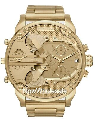 NEW DZ7399 DIESEL Gold Mr Daddy 2.0 Stainless Steel Chrono Men's Watch!