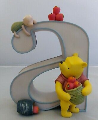Classic Winnie the Pooh Disney Alphabet Letter, Ceramic, Michel & Co - Letter A