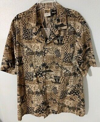 Aloha Shirt Island Decor - WINNIE FASHION Hawaiian Button Front Shirt Size XXL Hawaiian Islands Decor