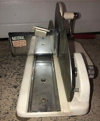 Vintage National Deli Meat Food Slicing Slicer Professional Grade American