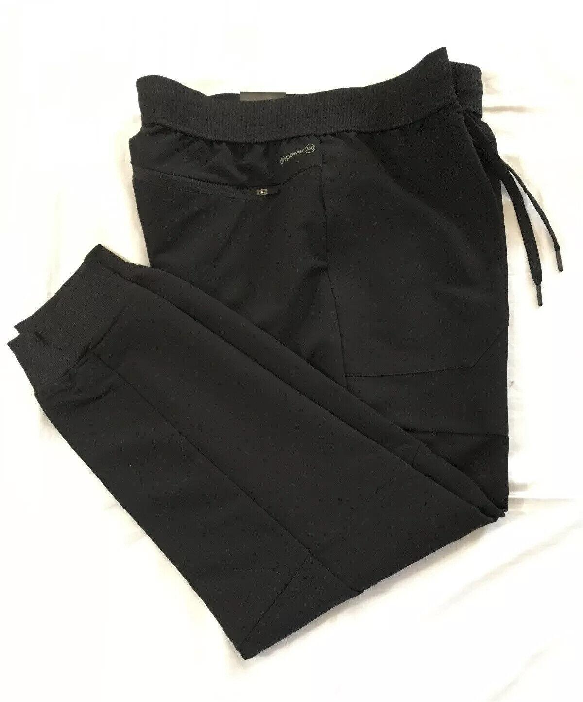 Russell Mens Training SLIM Fit Woven Jogger Pants BLACK XXL