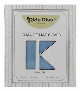 KIDZ KISS NURSERY ESSENTIALS SHERPA CHANGE MAT COVER - BLUE Click Ringwood East Maroondah Area Preview