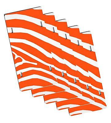 Lot Of 5 Blank 6x12 Plastic License Plate Sublimation Tag Orange Zebra Decal