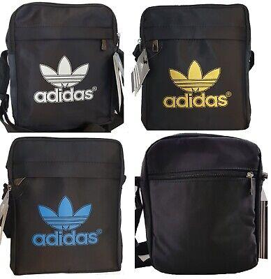 Trefoil Adidas Logo Adidas Men's Cross body Messenger Shoulder Bag Free P&P