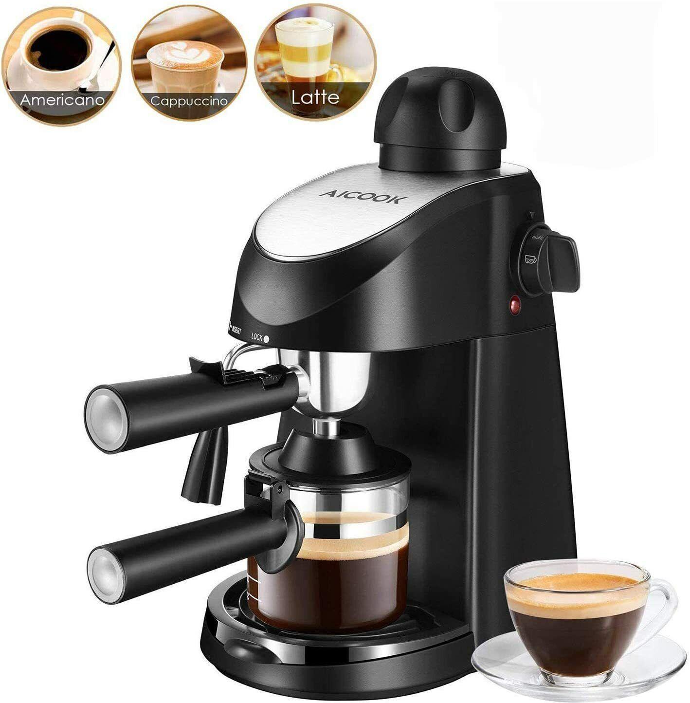Cappuccino Espresso Machine Coffee Maker 3.5 Bar 4 Cup With